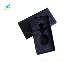 High-grade black cover keychain box printed LOGO