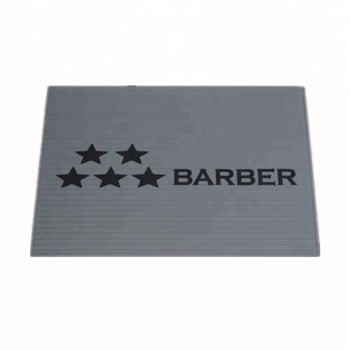 wholesale barber suppliers popular PVC rubber custom logo barber shop place mat