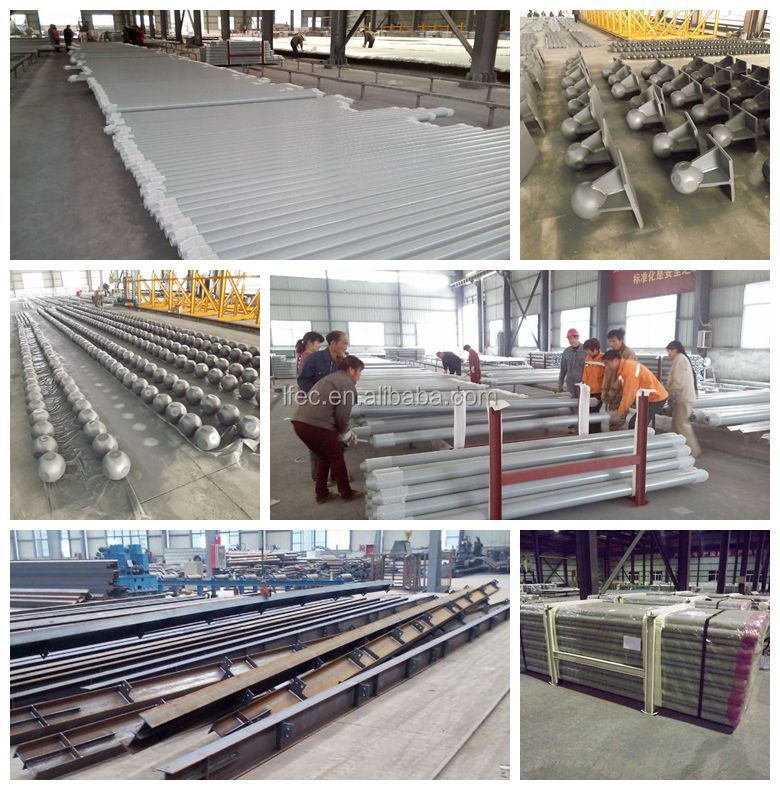 Prefabricated large span steel space frame