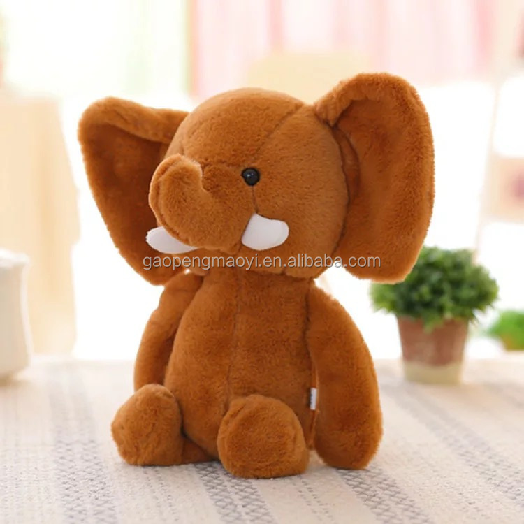 Top sale cheap cartoon pp cotton wholesale soft kids plush elephant pillow toy with big ear and white ivory