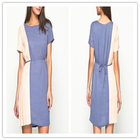 Leisure color matching loose dress(LY0147)