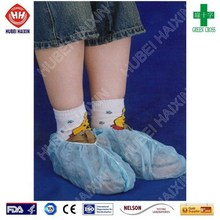 Disposable pp covered pe shoes cover, shoe care products
