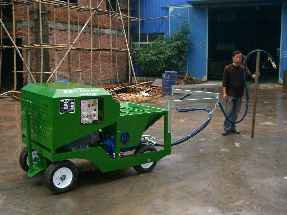 Electric power sprayer machine for rubber running track