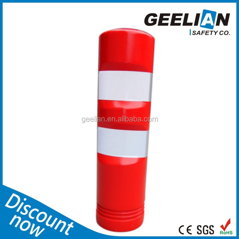 Outdoor Flexible Plastic Rubber Base Traffic Sign Post