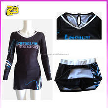 Latest design fashion slim fit long sleeve round neck women sports skirt with custom logo printing
