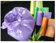 plastic hdpe purple garbage bags with good smell