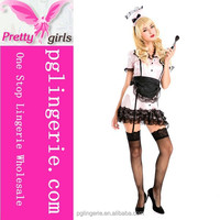 Hot sale red french maid costumes,sexy xxl maid costumes,leather maid costumes