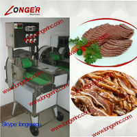 Electric cooked beef cutting machine|Automatic cooked meat slicing machine