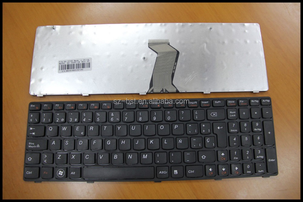 Teclado Spanish SP layout Laptop Keyboard For IBM Lenovo Ideapad G580 G580A G585 G585A