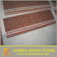 House Decoration G562 maple red granite interior stair Treads wholesale