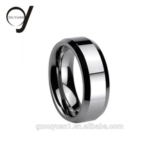 Comfirt Fit Persionality Two Grooves Spikes Tungsten Jewelry Cz Stainless Steel Ceramic Ring Wholesale Tungsten Carbide Rings