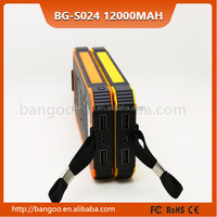 super power 12000mAh solar power bank jump starter power bank 12000mah