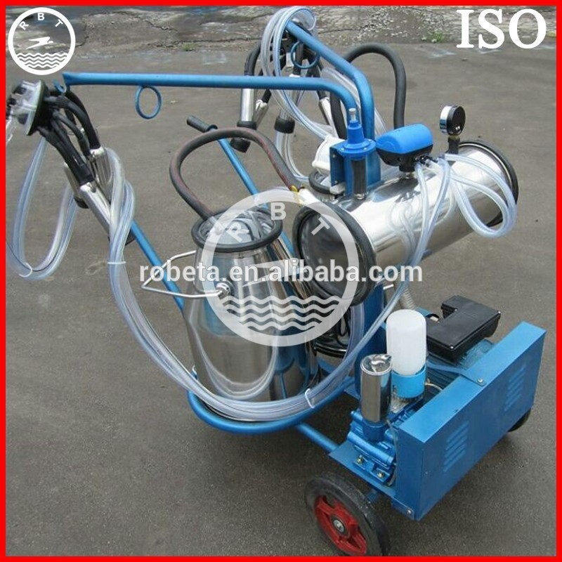 electric mobile single portable cow milking machine