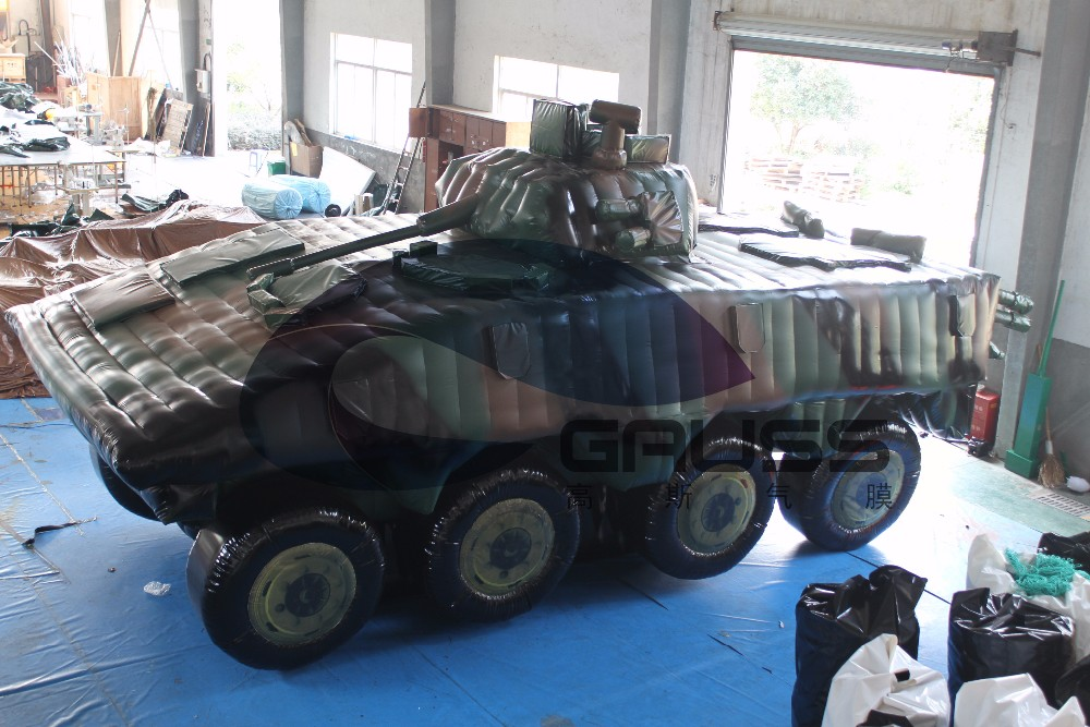 inflatable armoured vehicle/inflatable military truck/VBCI truck model