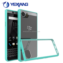 Acrylic back phone cover for blackberry mercury keyone, case for blackberry DTEK 70 tpu bumper case clear