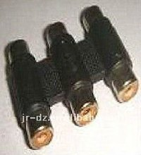 3 RCA female connector