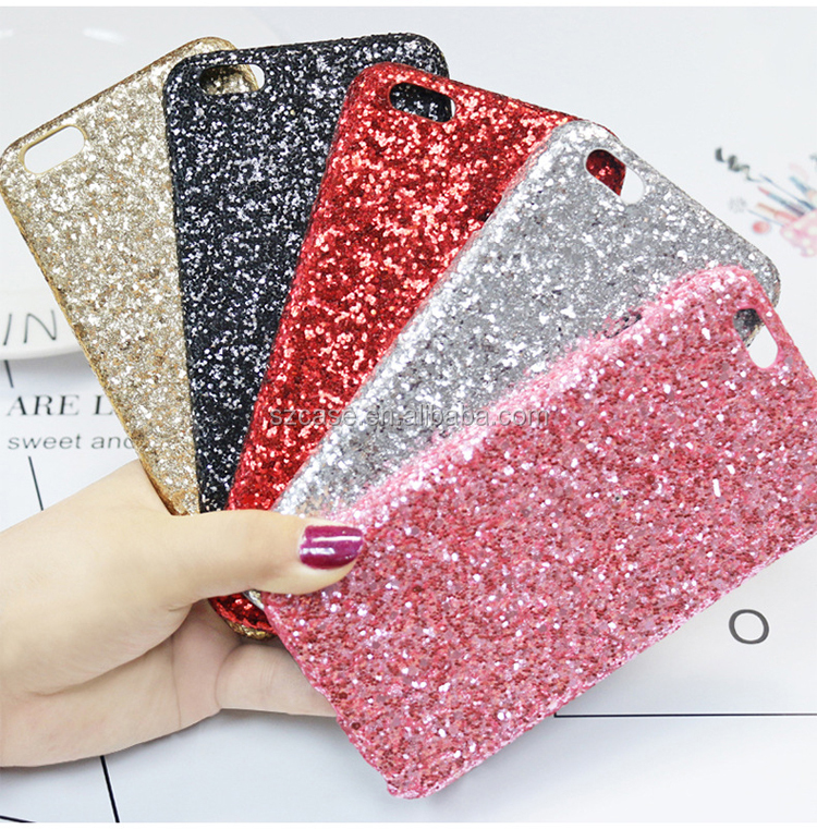 High Quality Bling Glitter TPU PET Cell Phone Cover Case for Iphone 7