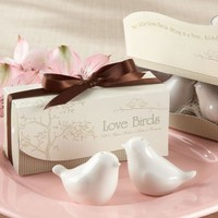 Ceramic love birds salt and pepper shakers wedding return gifts party giveaways