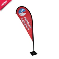 Polyester Beach Flag For Advertising Large Teardrop Banner