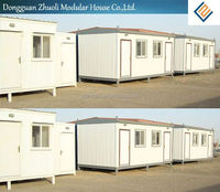 Modular prefab home kit price,low cost living 20ft container house cabins