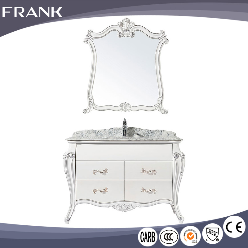 <strong>Antique</strong> european <strong>style</strong> solid <strong>oak</strong> bathroom <strong>furniture</strong> with mirror