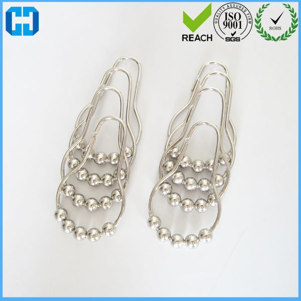 Bathroom Accessories Five Beads Gourd Shaped Hook Metal Shower Curtain Hooks