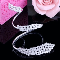 SJbeme-sz0011 New Arrival 925 Sterling Silver Ring Bracelet Fake Diamond AAA Cubic Zirconia Rhodium Plating Women Palm Cuff