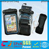 Inflatable pvc waterproof swimming phone pouch for samsung with armband