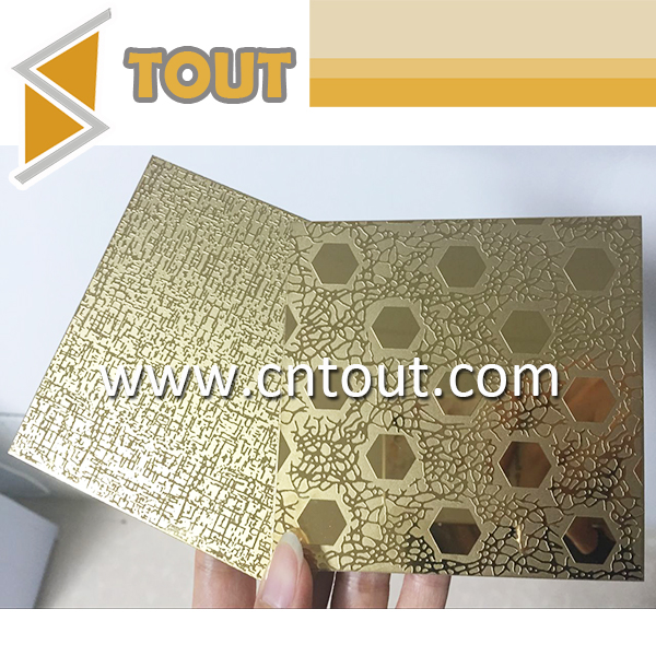 201 304 316 430 Stainless Steel Pvd Color Coating Paint Etched Stainless Steel Sheet