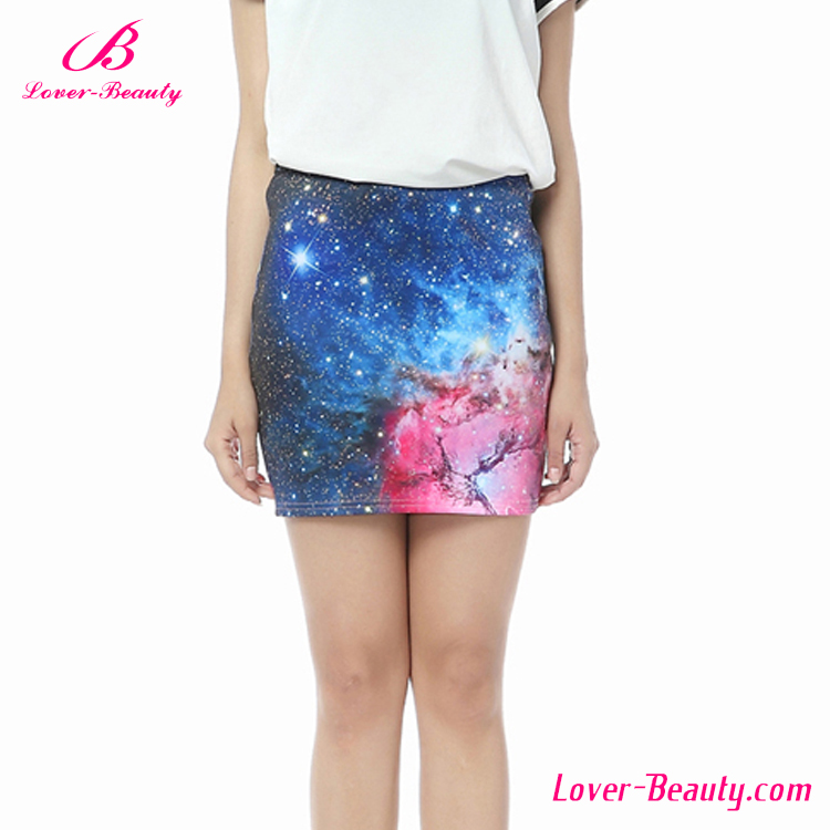 New Design Wonderful Printed Pencil Sexy Mini Skirt Models