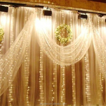 2Mx2M 200 LEDs Outdoor Christmas Waterproof String Fairy Wedding Curtain Light Party Wedding Decoration