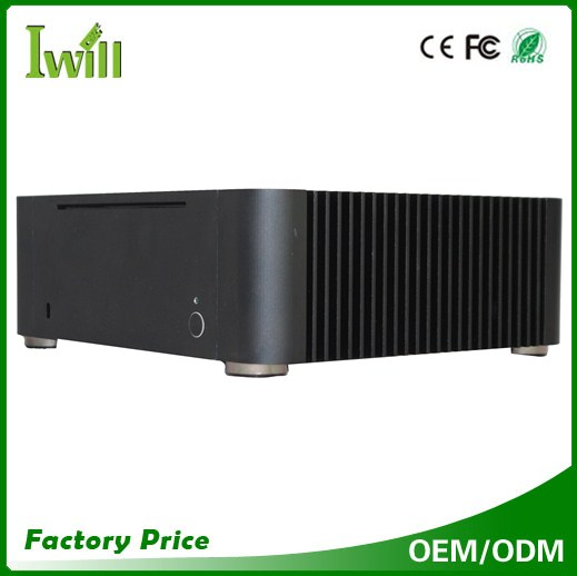 Fanless 17CM*17CM itx motherboard aluminum mini itx pc case with power supply for home theater