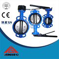 Ductile iron 304disc Wafer Type Butterfly Valve with PTFE seat