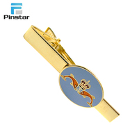 China manufacturer direct selling simple design personal gold skinny tie clips