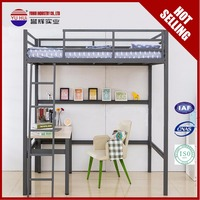 Otobi furniture in bangladesh price Wrought iron beds Black metal dorm bed Full loft Bunk bed with stairs