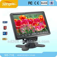 7 inch portable mini tv with FM, USB and TF card