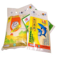 Plastic food packaging bag for rice packing