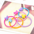 Factory price candy color custom elastic girls hair tie C-hb230