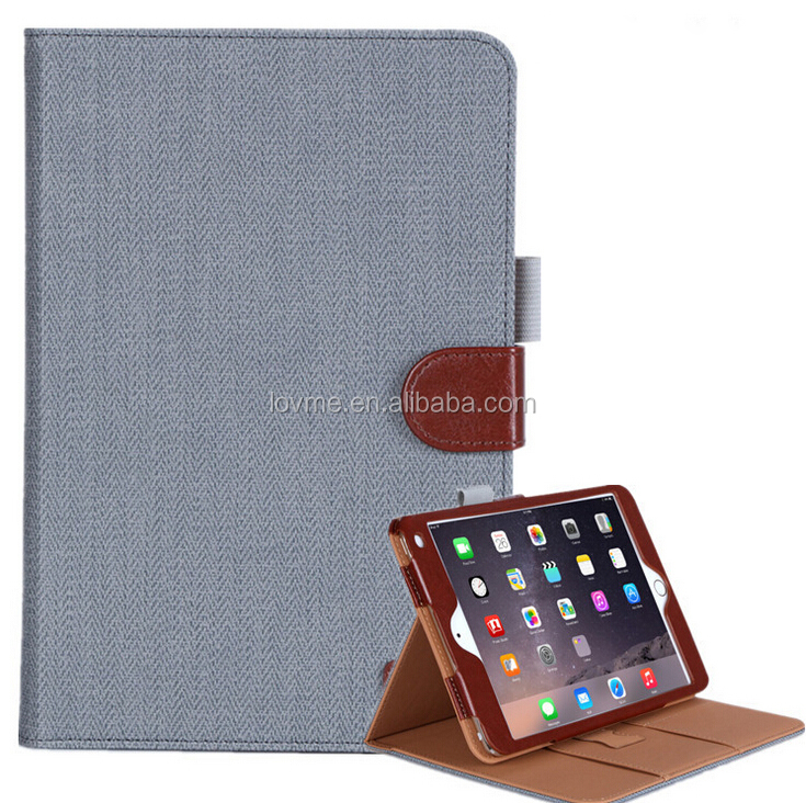 Premium Commercial PU Leather Protective Case With Stand Card Slots For Apple Ipad Mini 4