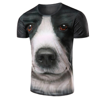 Men's Short Sleeve 3D T-Shirt with Dog Pattern