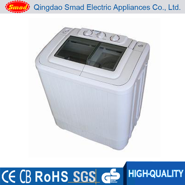 Commercial portable semi automatic twin tub washing machine
