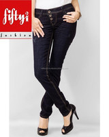Black Trendy Smart Ladies Jeans 2015
