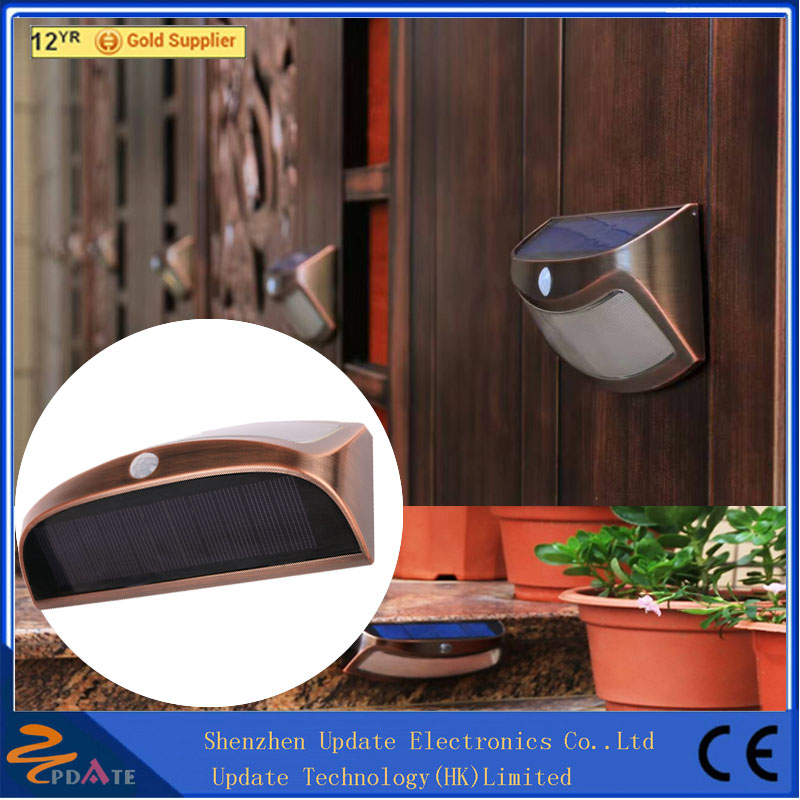 Super Bright Solar Human Induction Wall Lamp Led Outdoor Garden Landscape Step Lights