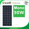 Bluesun A grade monocrystalline 90 watt mini solar panel 12v 90w