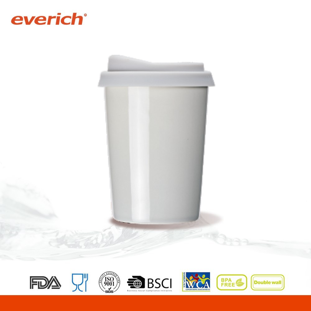 Modern drinkware promotional shining surface ceramic coffee cup