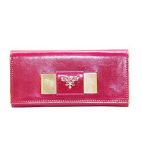 Maotai Factory real leather red color women wallet ladies hand purse