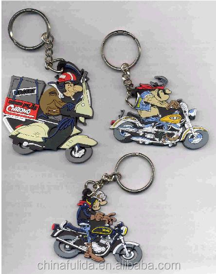 High Quality Rubber Keychain Motorcycle