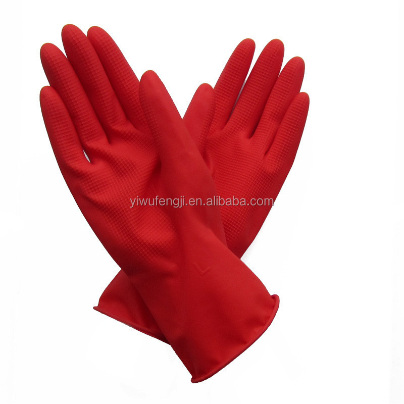 55g red industrial labor latex gloves resistant to acid and alkali protective gloves industrial latex gloves