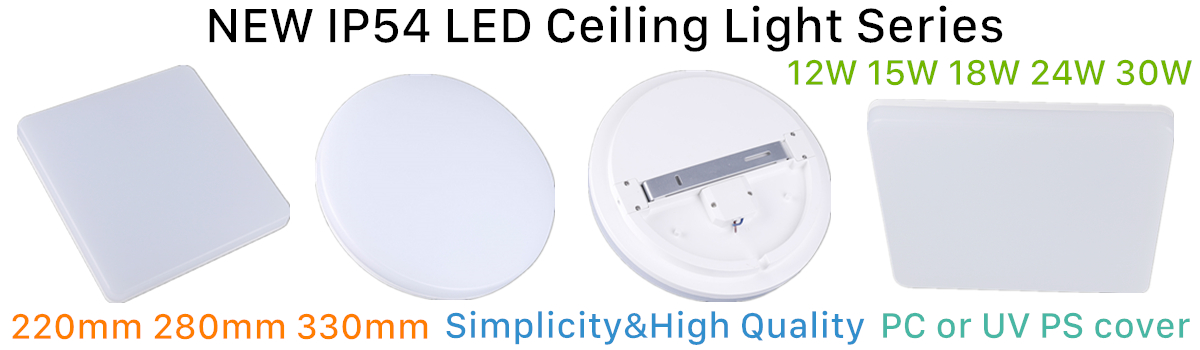 2018 NEW Europe Round Square Ceiling led  Light,280mm led surface mounted ceiling lightg,IP54 led ceiling lighting 18w 24w 30w