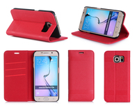 2015 Pc+Pu Mobile Phone Case For Samsung S6 with card slots